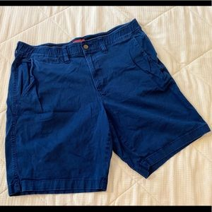 Blue Flat Front Shorts